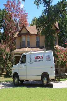 Image Of Carpet Cleaning Van At Customer's Home