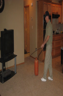 Image Of Carpet Cleaner Applying Protective Coating